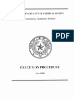 Execution Procedure TDCJ 2008