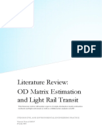 OD Matrix Estimation and Light Rail Transit Literature Review