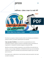 Crear una página Web con WordPress [2020]
