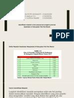 Identifikasi Masalah Kabupaten PakPak Bharat