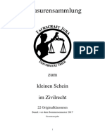 Klausuren Zivilrecht Sammlung