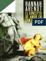 Arendt, Hannah - El concepto de amor en San Agustín