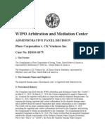 WIPO CASE Flourdaniels.com D2010 0375