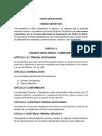 CODIGO DISCIPLINARIO CAMPEONATOS
