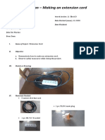 Project Plan for Extension wire