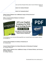 Important and Most Wanted MCQs about Current Federal Cabinet of Pakistan.pdf