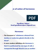 Mech of action Hormones