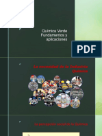 Química Verde Fundamentos y aplicaciones