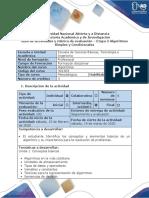 Guia de actividades y rubrica de evaluación - Etapa 2 – Algoritmos Simples y condicionales