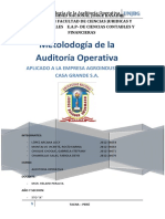 AUDITORIA OPERATIVA CASA GRANDE