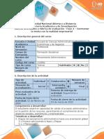 Guía de actividades y rúbrica de evaluación - Fase 4 - Contrastar la teoría con la realidad empresarial