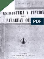 Estructura y Funcion Del Paraguay Colonial, H. Sanchez Quell
