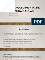 APROVECHAMIENTO DE LA ENERGÍA SOLAR