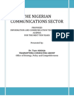 Dr Tayo Aduloju - Proposed Nigerian Communications Sector Agenda Doc
