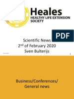 Scientific News 2nd of February 2020