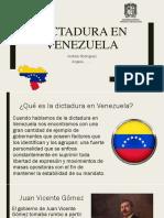 Dictadura en Venezuela (1)