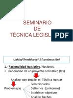 SEMINARIO DE TECNICA LEGISLATIVA UNIDAD 1 final