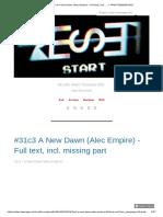 #31c3 A New Dawn (Alec Empire) - Full text, incl.... — ATARI TEENAGE RIOT