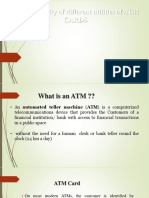 The popularity of diffrent utilities Atms cards.pptx