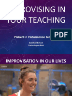 Improvising in your teaching - slides 2019-20