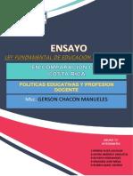 ENSAYO COMPARACION LEY FUNDAMENTAL DE HONDURAS Y COSTARICA