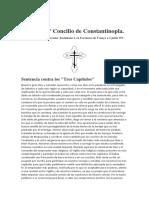 Actas del 2do Concilio de Constantinopla