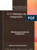 4.11 Métodos de Integración.
