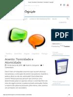Acento_ Tonicidade e Atonicidade - Gramática e Cognição