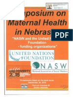 Symposium on Maternal Child Health in Nebraska 9/30/10