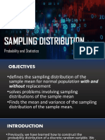 SAMPLING DISTRIBUTION OF A SAMPLE MEANS
