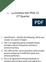 2nd Summative test Philo 11