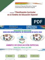 TALLER DE PLANIFICACIÓN - EDUCACIÓN ESPECIAL 2020