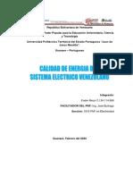Calidad de energia del sistema electrico venezolano