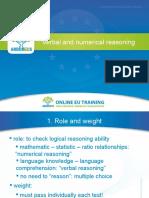 Verbal and Numerical Reasoning, an Arboreus Presentation