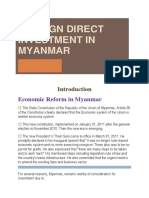 FOREIGN DIRECT INVESTMENT IN MYANMAR