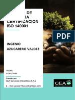 Informe Certificacion ISO14001