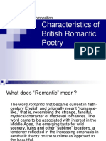 Characteristics of British Romantic Poetry Ppt