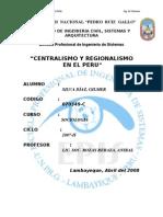 centralismo y regionalizacion