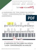 A harmonia de Tom Jobim na música _Luiza__ considerações na análise harmônica - Blog Terra da Música