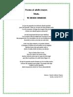 Poema Poesia Claudia Abuelo Te Deseo Conocer