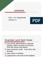 Ricardian Land Rent Model-PPT