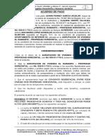 ACUERDO DE PAGO CARTERA MOROSA