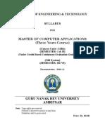 Mca _semester System_ 3 Years _cbcegs