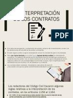 La interpretación de los contratos