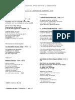 CANTOS PARA EL DOMINGO II DE CUARESMA - 2019 - PSCM-