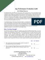 Lean Manufacturing Checklist PDF