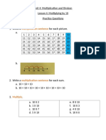 multiplying by 10 practice questions