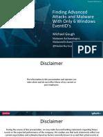 conf2015_MGough_Malware logs Archaelogy_SecurityCompl_AdvnAttacks splunk.pdf