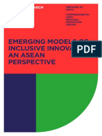 Emerging Models on Inclusive Innovation ASEAN perspective