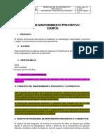 26  PLAN PREVENTIVO DE MAQUINAS
